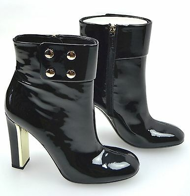 194aa9aa831 GUCCI WOMAN ANKLE Boot Black Patent Leather Code 247670 B8I00 1000 ...