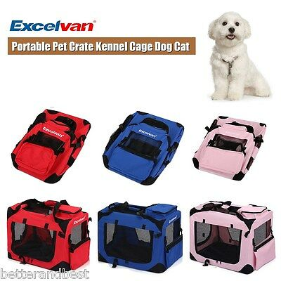 Folding Portable Pet Dog Cat Puppy Crate Fabric Carrier Bag Kennel Travel Cage