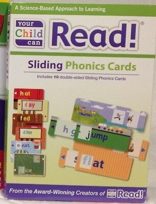 Your Child Can Read SLIDING PHONICS CARDS ~ NEW