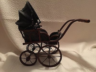 Vintage Doll Carriage Antique Children's Baby Buggy Stroller
