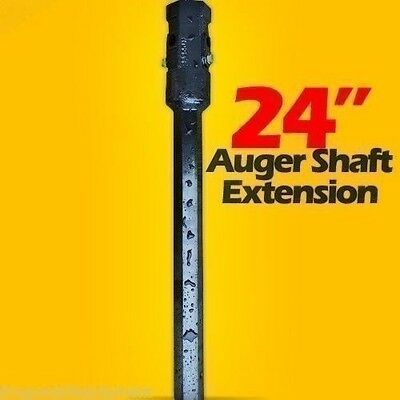 "24"" Auger Bit Extension for Skid Steer,Fits 2 "" Hex Auger Bits,Fixed Length,USA"