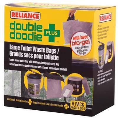 Reliance Products Double Doodie Plus Large Toilet Waste Bags (6-Pack) Reliance