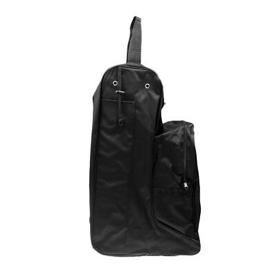 Large Waterproof Nylon Horse Riding Boots Carry Bag Tall Boots Bag - Black