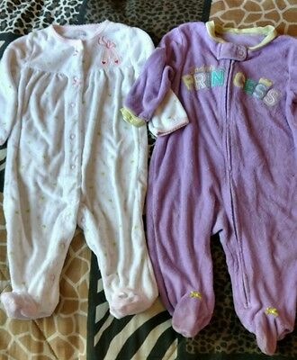 Infant Girls Size 6M Lot of 2 Sleepers