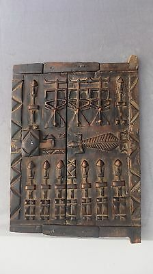 Mali Dogon African Carved Wood Granary Storage Door  16in / 12 in
