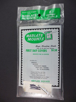 Marlate Stamp Mounts First Day covers