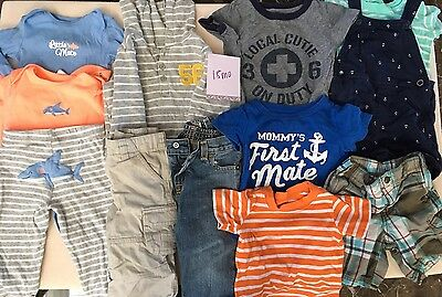 Baby Boy Clothing Lot 18 Months 12 Pieces Infant Toddler
