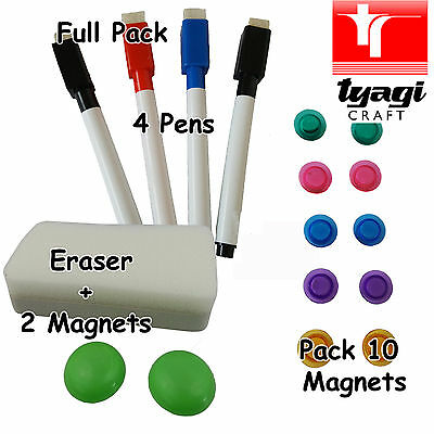 Whiteboard Accessories Pack Eraser Pens Magnets Home Office Wiper Accessory