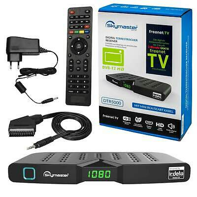 DVB-T2 Freenet TV Skymaster DTR 5000 Terrestrischer HEVC H.265 HDTV Private HD