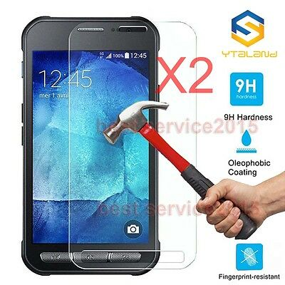 2Pcs 9H+ Tempered Glass Screen Film Protector For Samsung Galaxy Xcover 4 G390F