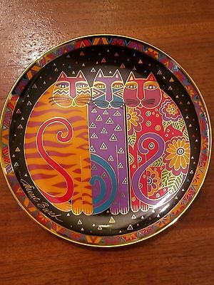 LAUREL BURCH Fanciful Felines Franklin Mint Plate w certificate