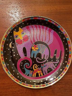 LAUREL BURCH Feline Family Franklin Mint Plate w certificate