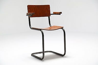 Vintage industrial mid century one off plywood armchair Prouve style