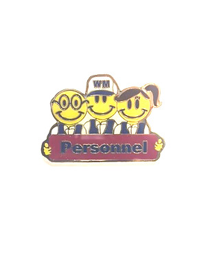 Rare Walmart Smiley Personnel Wal Mart Lapel Pin Pinback Brand New
