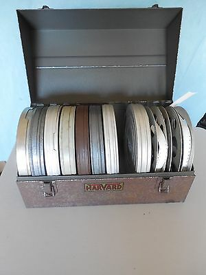Vintage Harvard Photo Products Film Case with 16mm Film Reels & Canisters