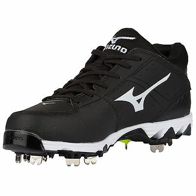 Mizuno Women's 9 Spike Swift 4 Softball Cleats 320510 size 8 black/white
