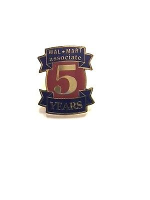 Rare Walmart 5 Year Associate Wal Mart Lapel Pin Pinback Brand New
