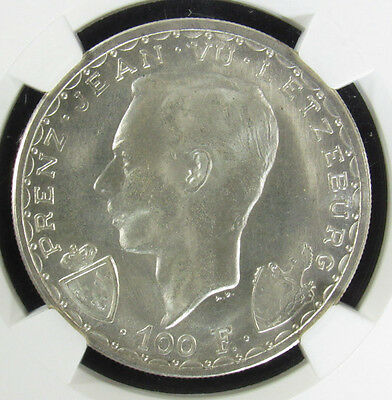 1946 Luxembourg 100F JOHN THE BLIND NGC MS66 (004)