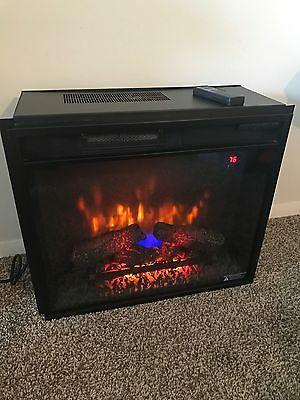 Twin Star 26 Black Electric Fireplace Insert W 26 Bb Kit