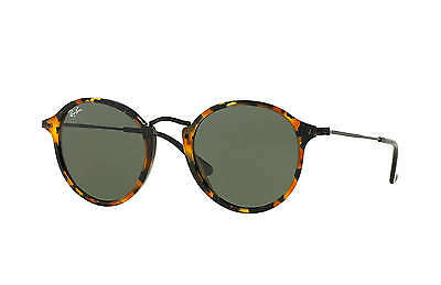 Ray-Ban RB2447 Round Fleck 1157 Tortoise,Black Frame/Green Classic G-15 52 mm