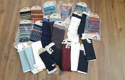 Huge Closeout Lot Of Boot Socks/cuffs Different Patterns Styles Look!