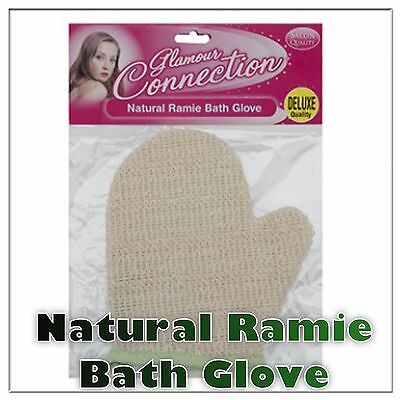 NATURAL SKIN EXFOLIATION BATH & SHOWER GLOVE Scrubber Loofah Massage Wash Mitt