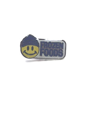 Rare Walmart Smiley Frozen Foods Wal Mart Lapel Pin Pinback Brand New