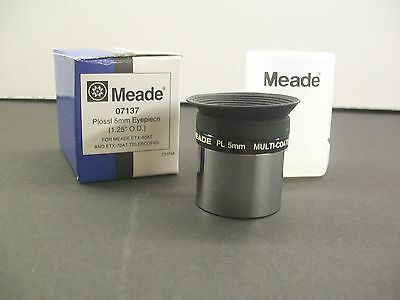 """Meade 1.25"""" 5mm Plossl Multicoated Telescope Eyepiece -- see Moon, Planets NEW!"""