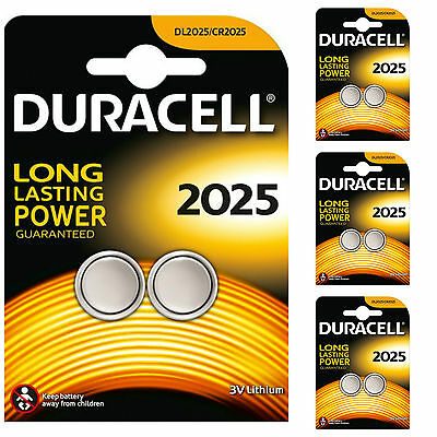 8 X Duracell CR2025 2025 3V Lithium Coin Cell Batteries DL2025B2