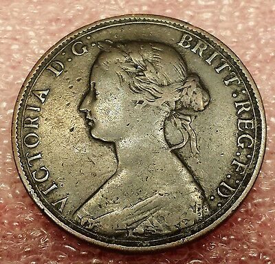 1862 Great Britain 1/2 Penny KM# 748