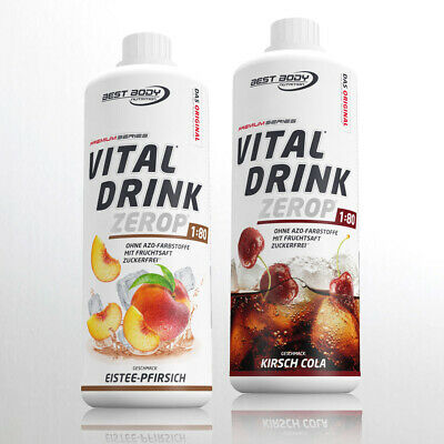 10,00€ /Ltr. Best Body Nutrition Low Carb Vital Drink  2 x 1 Ltr. Getränkesirup