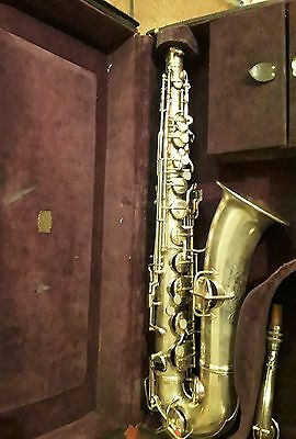 Early 1920s Silver Conn C Melody Saxophone