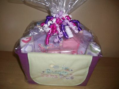 "Baby Girl ""Precious In Purple"" Baby Shower Gift Basket or Centerpiece"