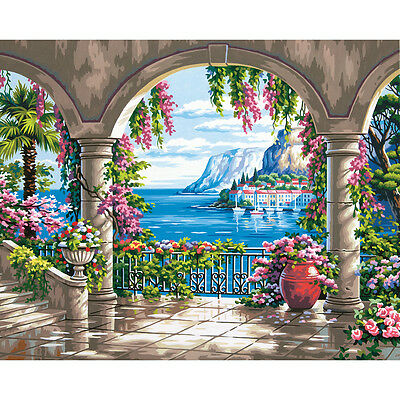 "Paint Works Paint By Number Kit 16""X20"" Floral Patio 91452"