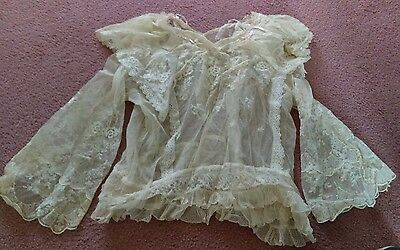 Incredible Antique Tambour Lace Blouse Lots Of Awesome