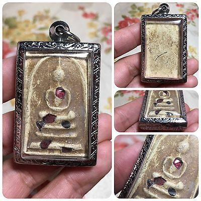 Beautiful Somdej Relics Thai Buddha Amulet Luck Love Rich Wealth Success Protect