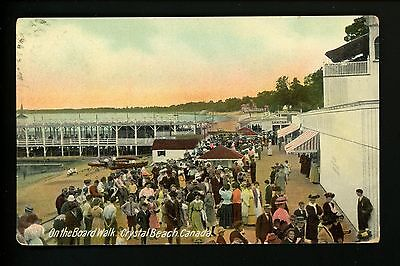 Amusement Park postcard Crystal Beach, Ontario Canada Board Walk