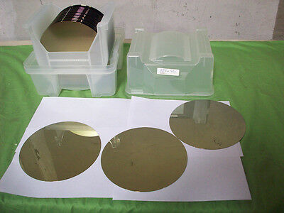 Boat of 22 Wafer Slices Bare Si  200mm (new)  SEMICONDUCTOR SILICON WAFERS