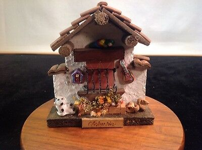Vintage Hand Made South American Clay Adobe Scene