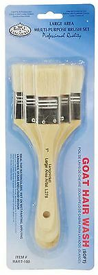 Royal Langnickel Artists Goat Hair Paint Brush Set of 3 Large Area Wash RART-100