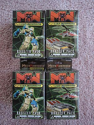 Liao Incursion Booster Packs sealed group of 4 MechWarrior by WizKids 2003