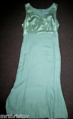 juniors size 11 green long dress prom wedding formal evening bridesmaid
