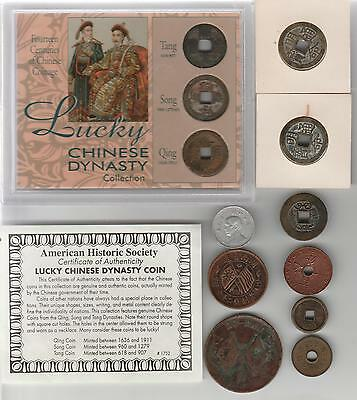 China Coin Lot With Lucky Chinese Dynasty Collection~Tang Dynasty~Song Dynasty