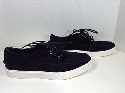 COLE HAAN Bergen Moc Men's Size 8 Black Suede Casual Loafers Shoes X1-1603
