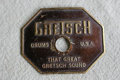 Gretsch Hex Badge ! The One You Need! Fair/good Cond! Ships Super Fast! Bin!