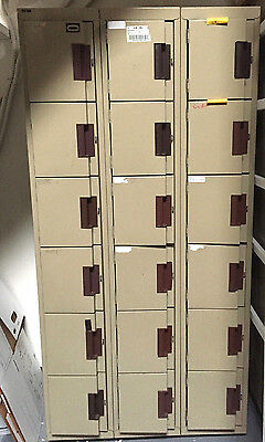 "METAL LOCKERS CABINETS - SCHOOL, GYM, STORAGE, EMPLOYEE -- 72""H x 36""W x 18""D"