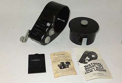Brand New, Vintage Watson #166B 35mm Daylight Bulk Film Loader, Holds 100 Feet