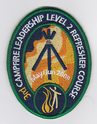 HONG KONG Scout Leader SCOUTCRAFT ACCREDITATION SCHEME CAMPFIRE LEADER 09 PATCH