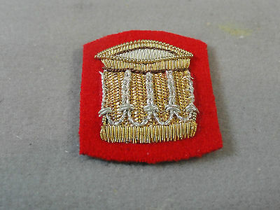 Corps of Army Music Musician DRUM Blazer Hat Barge British Embroidery MINT Small