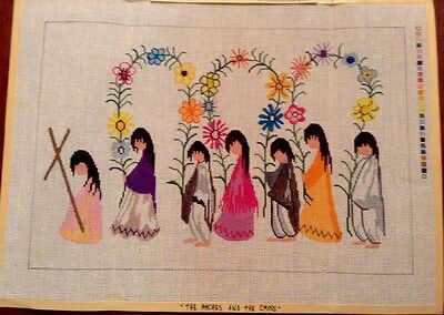 DeGrazia Handpainted Needlepoint Canvas The Arches & the Cross Sundance Designs